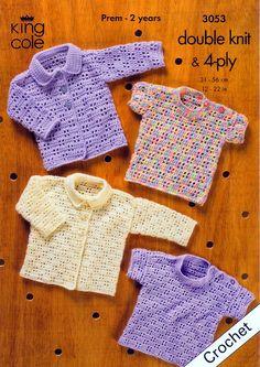 Casaquinhos e blusinhas de crochê para bebês