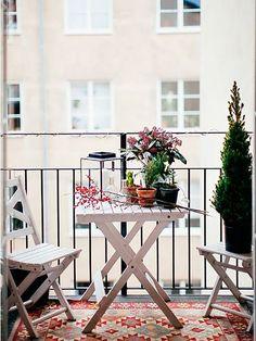 Una terraza otoñal