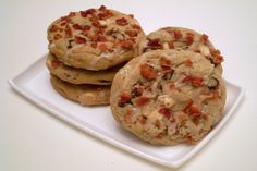 Simply going to try these!  Bacon Chocolate Chip Cookies. Photo by TasteTester