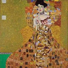 KLIMT- Portrait d'Adèle BAUER -