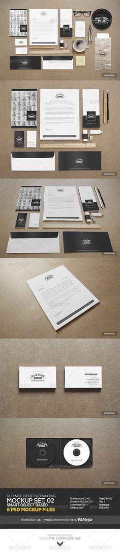 Ultimate Identity / Branding Mock-Up Set 02 - Print Product Mock-Ups