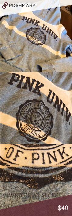 Special Victoria's Secret hoodie Super cute, special Victoria's Secrete University Of Pink hoodie. Size M Price may be negotiable Victoria's Secret Jackets & Coats Vests