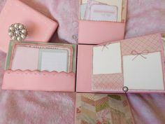 Exploding Photo Box Explosion Box Pink shabby by JaimeesCreations
