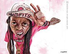 Caricatura de Lil Wayne