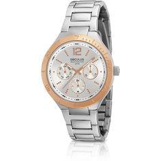 5538431094f Relógio Feminino Analógico Multifunção Esportivo Glamour 60598LPSGGS2 -  Seculus Relógio Feminino