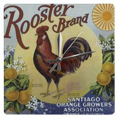 ROOSTER1 WALL CLOCKS