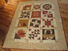 Sampler Quilt Whitman Sampler, Fall Quilts, Sampler Quilts, Quilted Table Runners, Quilt Blocks, Blanket, Rugs, Quilting, Seasons