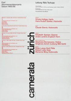 Camerata Zürich (1965-1966). Design Fritz Querengässer.
