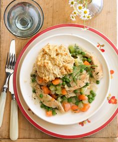 Spring Chicken and Biscuits - GoodHousekeeping.com  30 min  DIY the baking mix
