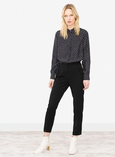 Uterqüe United Kingdom Product Page - Ready to wear - See all - Silk polka dot shirt - 90
