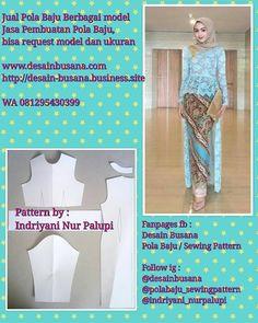 """106 Suka, 0 Komentar - Indriyani Nur Palupi (@indriyani_nurpalupi) di Instagram: """"Jasa Pembuatan Pola kebaya dewasa dan anak, bisa request model dan ukuran lho 😉 Ini salah satu…"""" Pola Rok, Dress Brukat, Kebaya Brokat, Model Kebaya, Batik Kebaya, Pants Pattern, Fashion Sewing, Pattern Making, Sewing Patterns"""