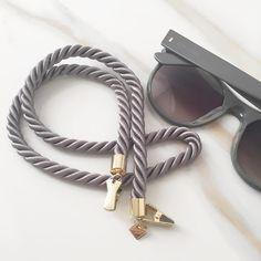 thick grey sunglass cords are now on VeronicaDeOre.com!