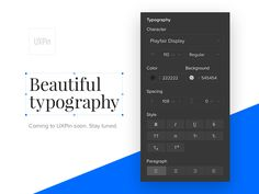 Beautiful typography in UXPin by keithar #Design Popular #Dribbble #shots