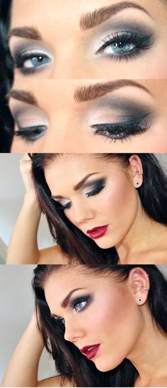 Not that I can necessarily picture pulling that much eye makeup off ... but it's really pretty.