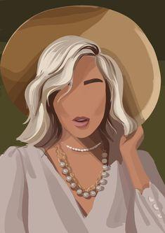 Art And Illustration, Portrait Illustration, Illustrations, Digital Portrait, Portrait Art, Arte Black, Foto Art, Cartoon Art, Art Sketches