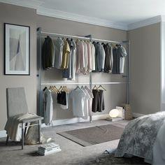 $260 Space Pro Relax Aluminum Intermediate Closet Kit