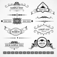 Decorative ornate patterns elements eps Vector 03 450x450 飾り罫が無料でダウンロード出来ます。4set(AI・EPS)   Free Style