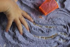 Lavender sensory salt recipe for calming down play-time and mark-making fun