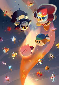 Kirby art piece by Kirby Character, Pokemon, Meta Knight, Video Game Art, Video Games, Cute Games, Star Children, Geek Girls, Super Smash Bros