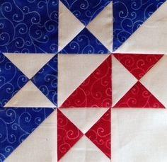 Split color Star Block - HST and Hour Glass blocks
