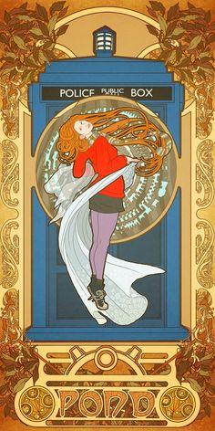 Art Nouveau Amy Pond