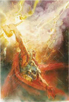 Bill Sienkiewicz - cover of Thor #75, 2004