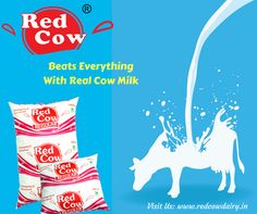 Beats everything with real cow milk Visit us: www.redcowdairy.in