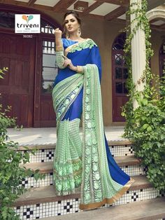 NEW INDIAN PAKISTANI BOLLYWOOD STYLE DESIGNER SAREE Barnd-Triveni KC 350 #KRISHACREATION #BOLLYWOODSTYLE