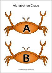 Alphabet on crabs - capitals (SB10207) - SparkleBox