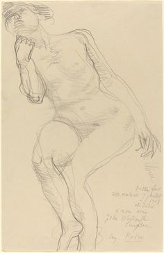 Auguste Rodin | Seated Female Nude Leaning to the Left (1908) | Artsy