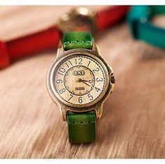 Stan vintage watches — Vintage Handmade Cowhide Bronze Womens Watch (WAT0239-3) , http://justladythings.com
