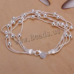 Favourer® Jewelry Bracelet, Brass, real silver plated