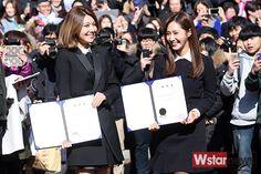 SNSD - Choi SooYoung 최수영 & Kwon YuRi 권유리 graduating Joongang University 160215 중앙대학교 예술대학 학위수여식 #수영 #셩이