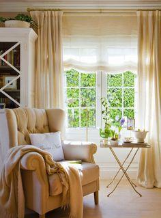 Seven Inspirational Images of Pure and Plain Curtains Decor, Plain Curtains, Interior Design Living Room, Interior Design, Home Deco, Living Decor, Living Room Decor, Home And Living, Home Living Room