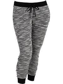 Women's Plus Marled Terry-Fleece Sweatpants