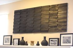 Steven LaBarre - DIY textured wood wall hanging.  You can hang this...