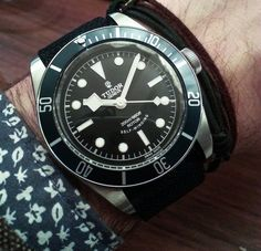 """2014 Tudor Heritage Black Bay """"Blue"""" 79220B Watch Hands-On - by James Stacey -  """"For Heritage Black Bay timepiece lovers, 2014 will be a good year as an almost black, blue bezel version known as the ref. 79220B watch has been announced. Baselworld news comes a day early this year as we've just left a dinner hosted by Tudor and the fine folks at Watchonista where we got see the follow up to the massively successful Heritage Black Bay..."""""""