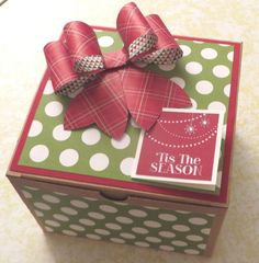 Extra-Large Kraft Gift Box with Gift Bow. Buy the kraft box from Stampin' Up! and embellish to your heart's content!