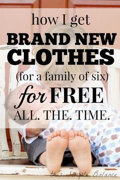 Brand New Clothes for FREE: How to Get Clothes for Free (brand new) and save money on clothes wth a big family! still have great clothes! Ways To Save Money, Money Tips, Money Saving Tips, How To Make Money, Money Savers, Free Stuff By Mail, Get Free Stuff, Frugal Living Tips, Frugal Tips