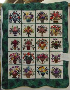 """Faeries and Fibres: Treasures and more quilt show quilts: """"Elegant Baskets"""""""