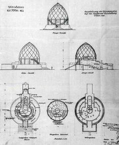 Glass pavilion by Bruno Taut