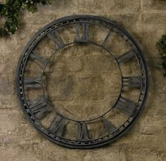 amazing #clock. I would want to hang it inside ~ by naomial