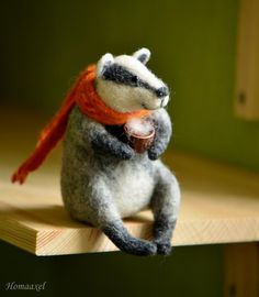 needle felted mr badger - Google Search