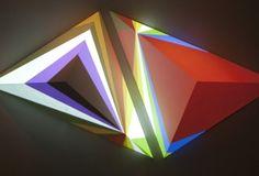 "Dev Harlan ""Pyramid VI"" Installation view from ""Astral Flight Hangar"" at Christopher Henry Gallery"