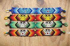 Huichol Beaded Bracelet by thebumblebeaduk on Etsy