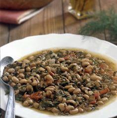 Greece Food, Snack Box, Black Eyed Peas, Greek Recipes, Beans, Food And Drink, Appetizers, Soup, Snacks