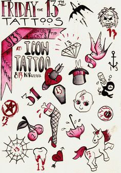 friday the 13th flash tattoos - Google Search