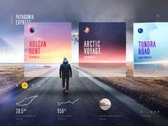Интерактивная анимация от Cosmin Capitanu for Patagonia Express Layout Design, Website Design Layout, Web Ui Design, Web Design Trends, Design Blog, Web Layout, Website Design Inspiration, Design Websites, Interface Design