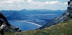Lake Pedder from Frankland Range, 1953