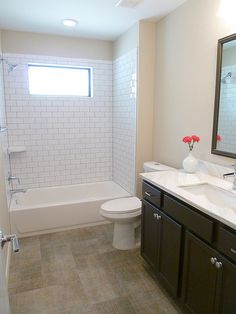 shower with subway ideas